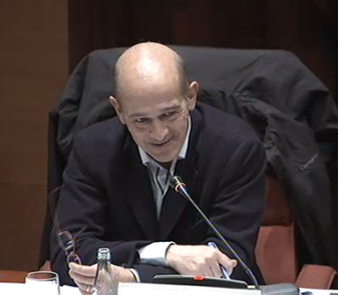Pere Pujol Ferrusola a la comissió sobre el frau i la corrupció