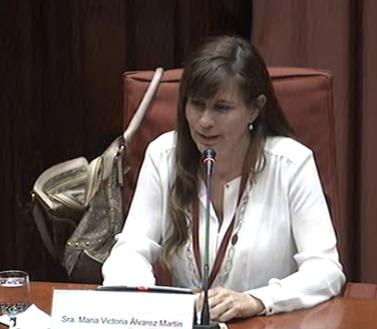 Victoria Álvarez al Parlament