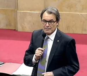 Artur Mas durant la sessió de Control parlamentària