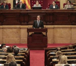 Artur Mas al Parlament