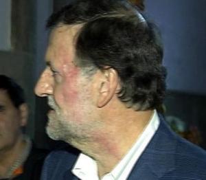 Cop de puny a Rajoy