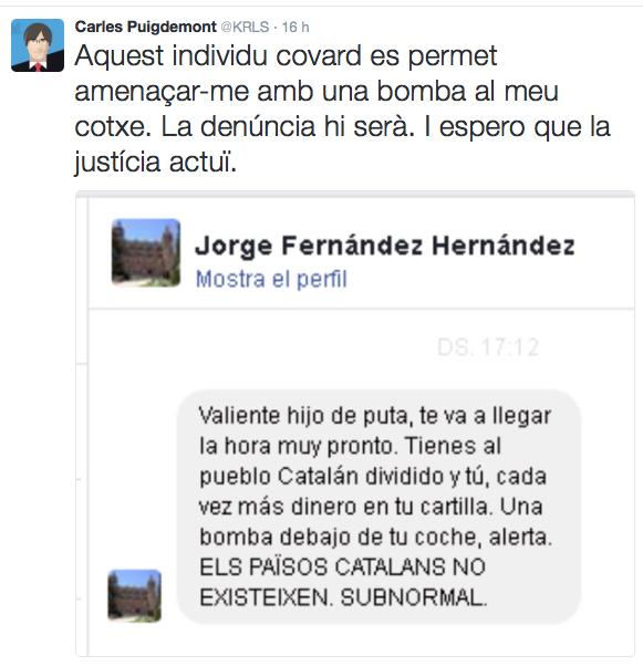 Twitter Puigdemont