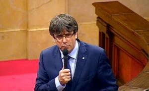 Puigdemont, en el Parlamento catalán
