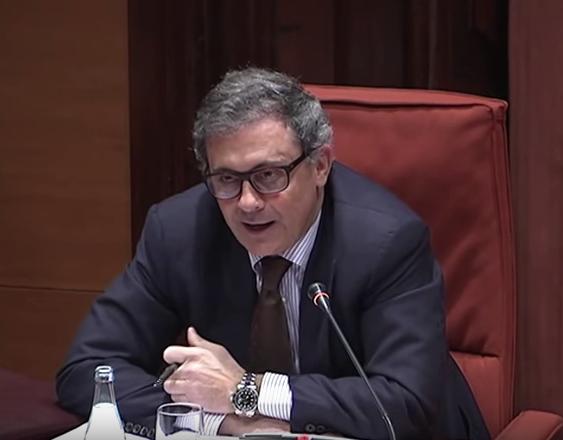 Jordi Pujol Ferrusola, al Parlament