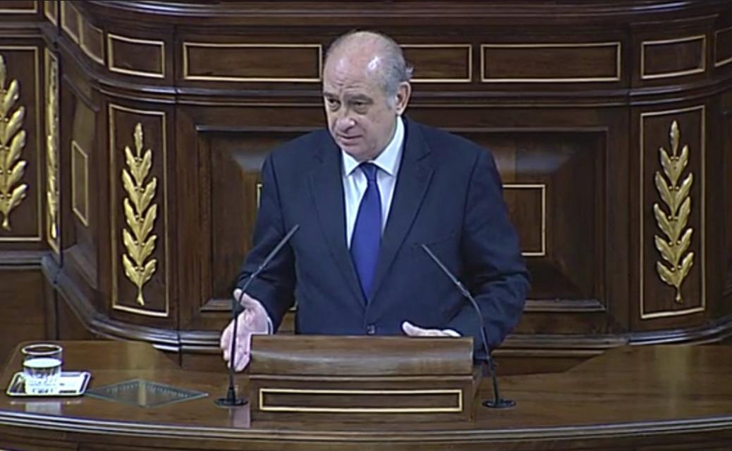 Jorge Fernández Díaz, en el Congreso