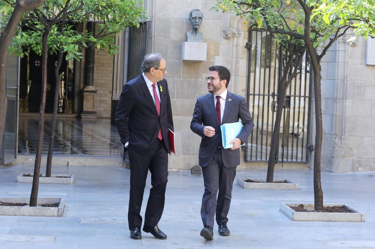 Quim Torra y Pere Aragonès