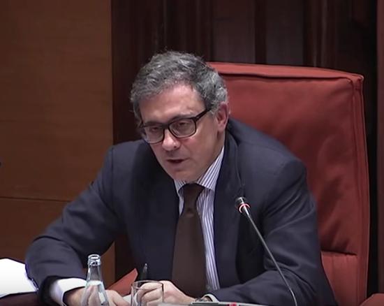 Jordi Pujol Ferrusola al Parlament, el 2015