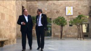 Alex Salmond y Quim Torra