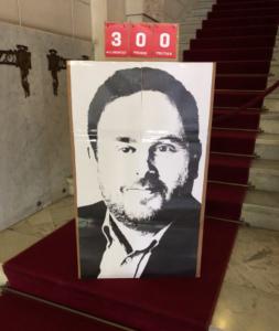 Protesta por el encarcelamiento de Junqueras