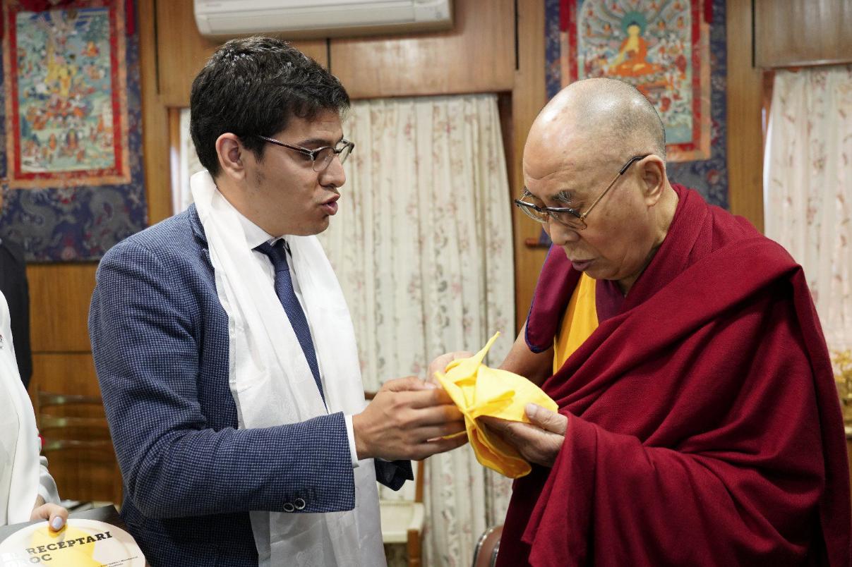 Aleix Sarri i el Dalai-lama
