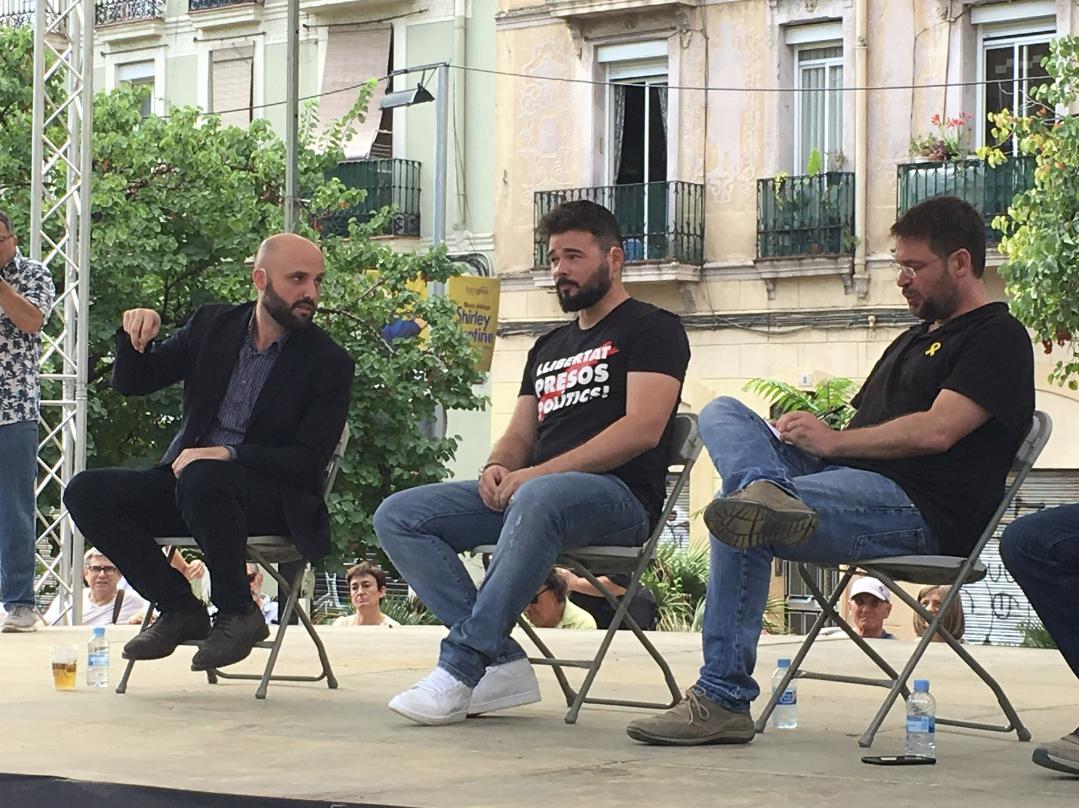 Jordi Graupera, Gabriel Rufián y Albano Dante Fachin