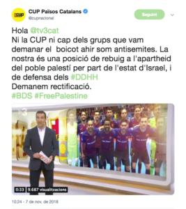 La CUP pide una rectificación a TV3