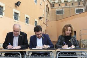 Pere Aragonés, Josep Bargalló y Ester Capilla