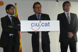 Oriol Pujol, en un acto con Artur Mas y Carles Puigdemont