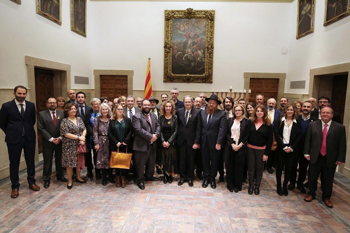 Quim Tuesta, durante una recepción con las comunidades judías