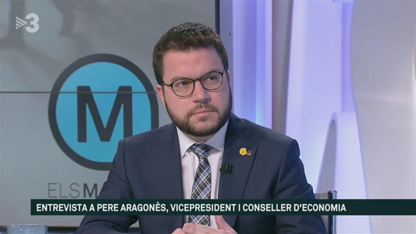 Pere Aragonès a TV3