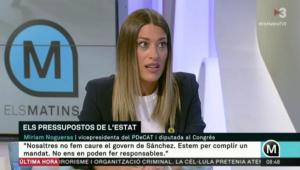 Míriam Nogueras, a 'Els matins' de TV3