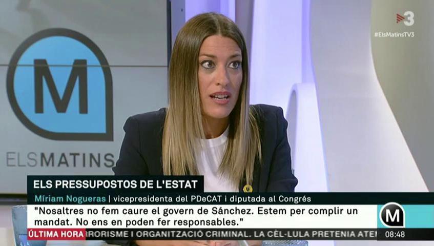 Míriam Nogueras, en 'Els matins' de TV3