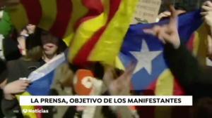 Una conexión en directo de Antena 3 durante la huelga