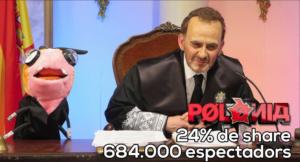 El 'Polònia' celebra un 24% de 'share' pese al boicot