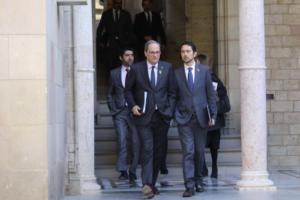 El presidente Quim Torra y el consejero Damià Calvet