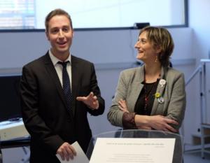 El alcalde Jordi Masquef, con la consejera Alba Vergés