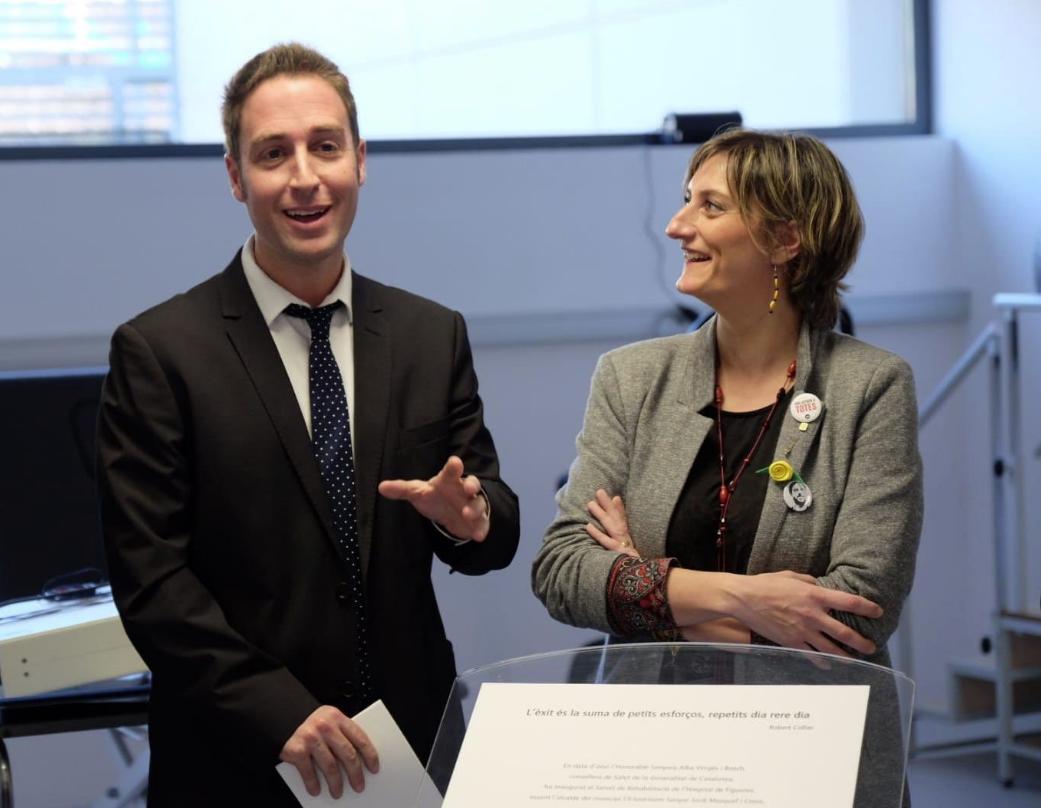 L'alcalde Jordi Masquef i la consellera Alba Vergés