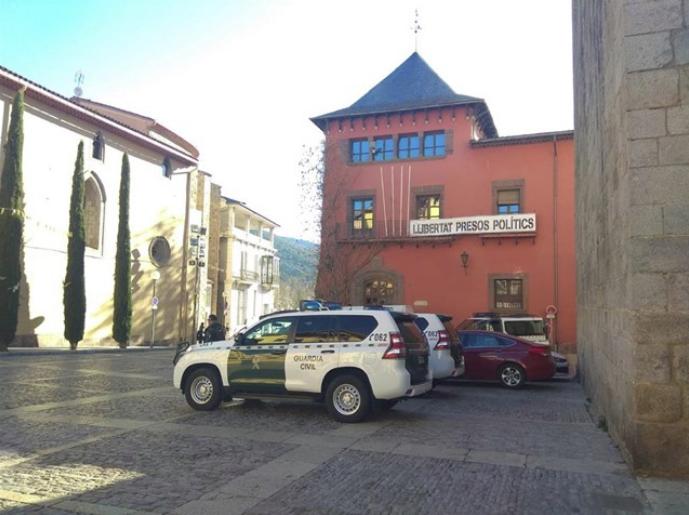 Operativo de la Guardia Civil en la Seu d'Urgell