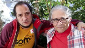 Ramón Cotarelo i l'exdiputat de la CUP David Fernàndez