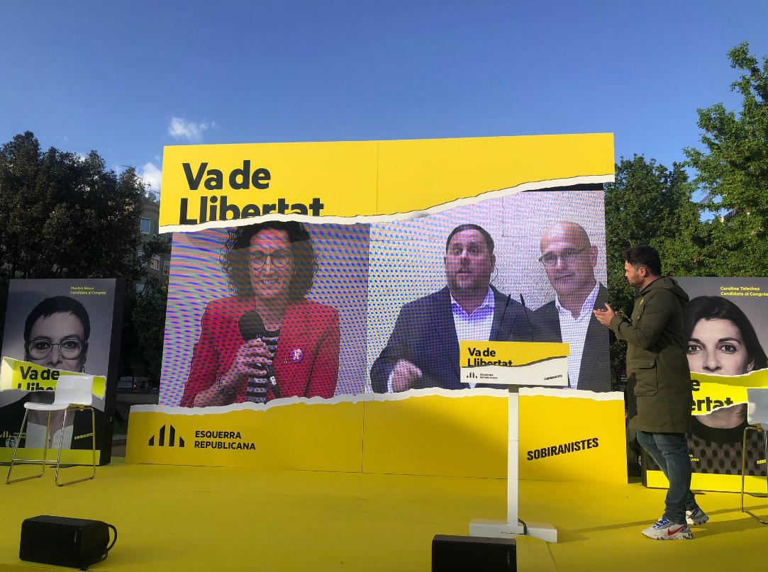 Acte de campanya d'ERC