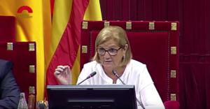 Núria de Gispert, cuando presidía el Parlamento catalán