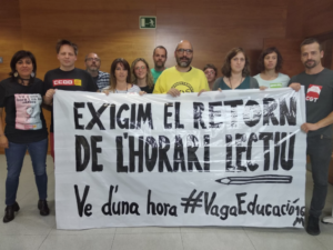 Protesta de los profesores en el Departamento de Educación