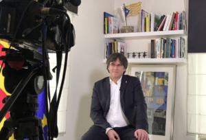 Carles Puigdemont, entrevistado en TV3