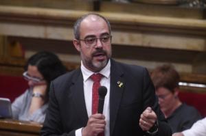 Miquel Buch, en el Parlamento catalán