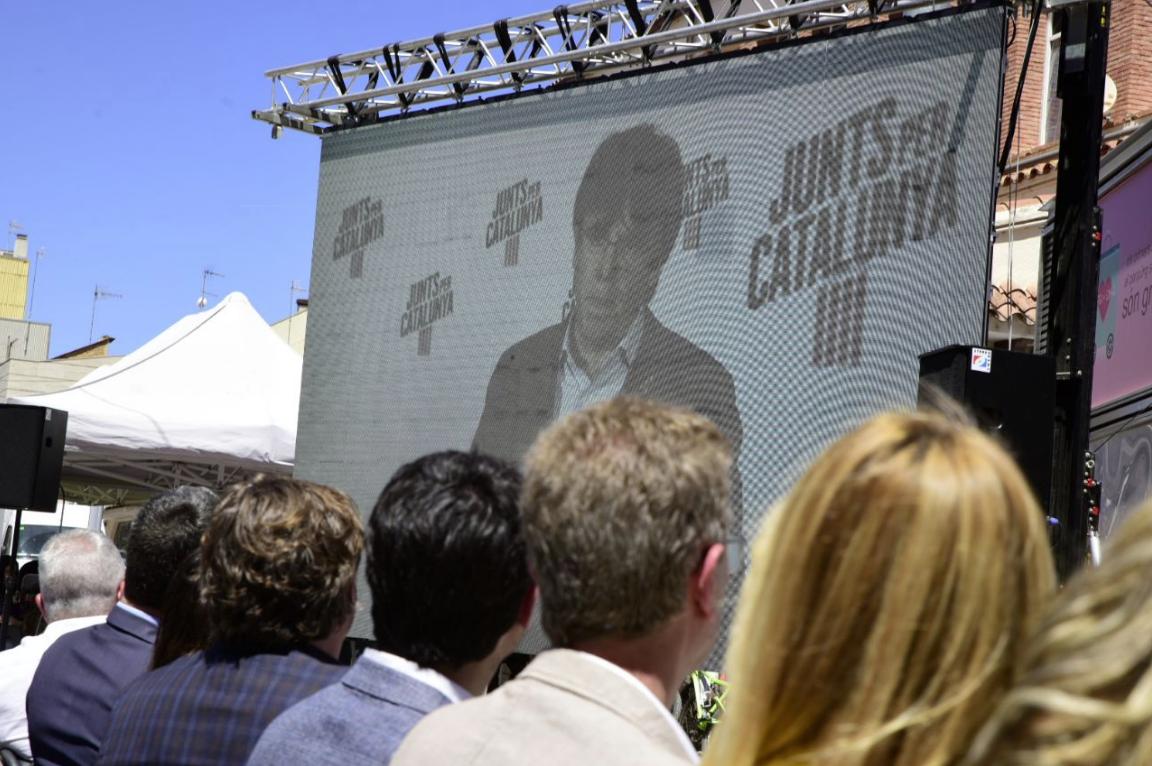 Carles Puigdemont, intervenint en un acte de campanya de JxCat
