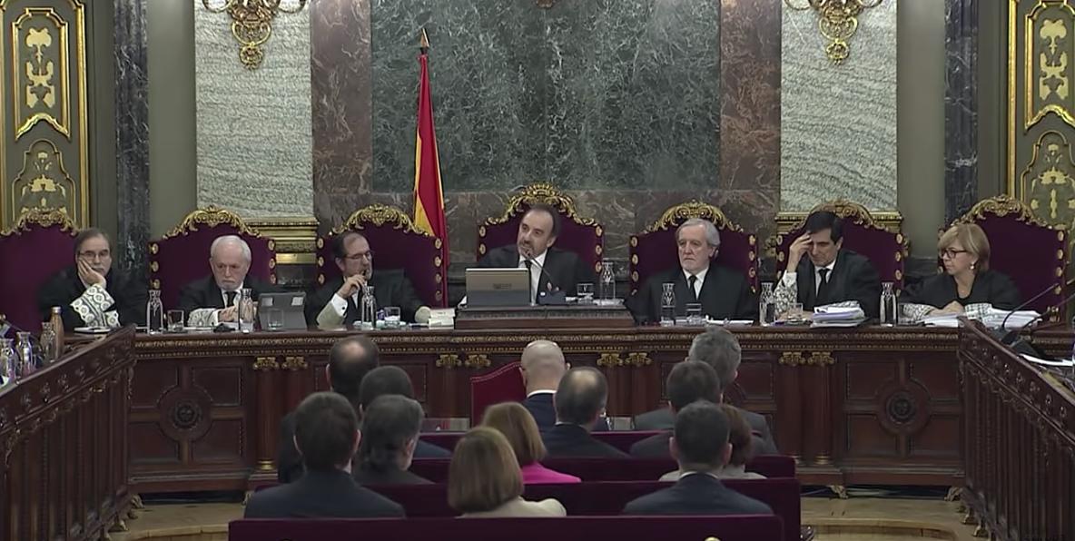 Manuel Marchena, interviniendo durante el juicio