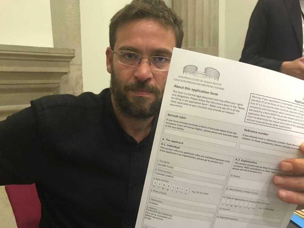 Albano Dante Fachin firmó la denuncia contra la suspensión del pleno del 9 de octubre de 2017