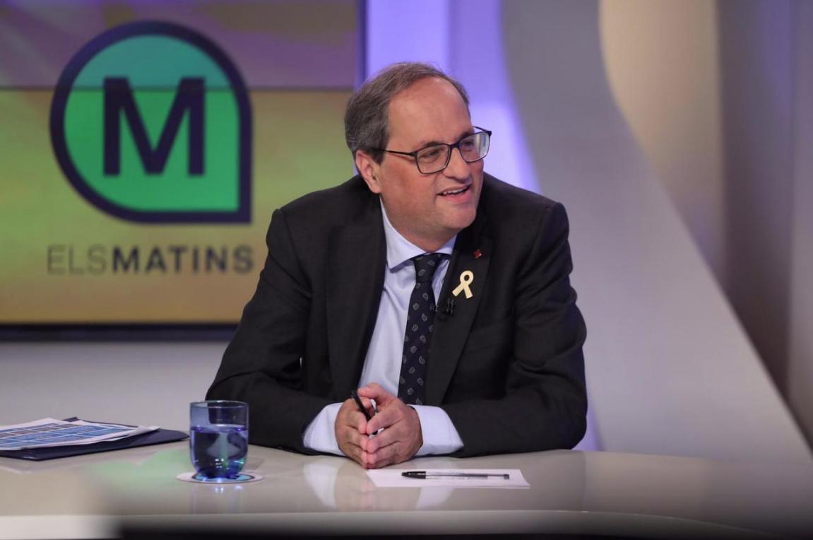 Quim Torra, en TV3