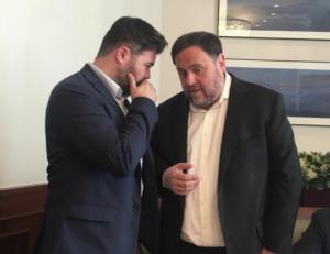 Oriol Junqueras, amb Gabriel Rufián