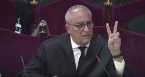 Xavier Melero, exposant el seu informe final al Suprem