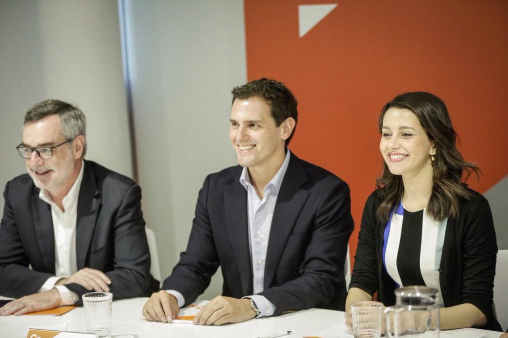 Rivera, amb Villegas i Arrimadas