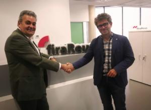Marc Arza (derecha), con el presidente de la Cámara de Comercio de Reus, Jordi Just