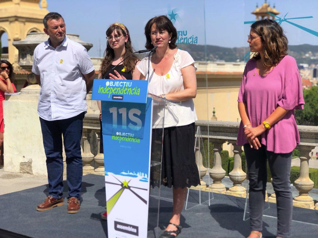 Elisenda Paluzie, presentant la campanya de la Diada