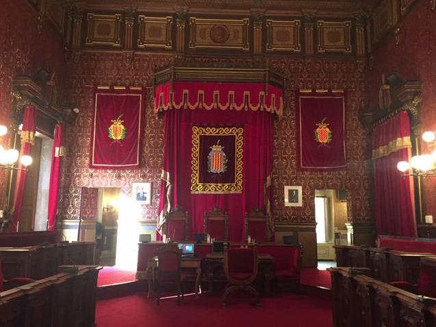 El salón de plenos del Ayuntamiento de Tarragona