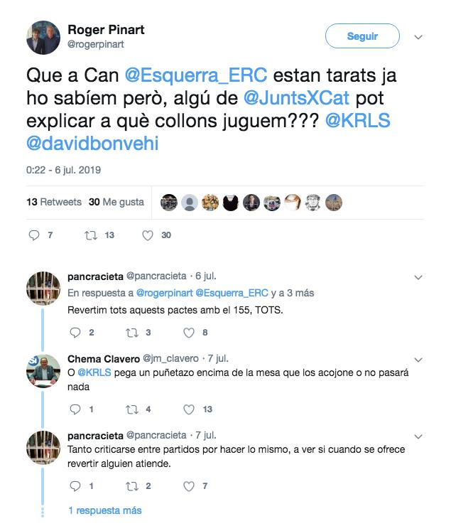 Pinart, contra ERC