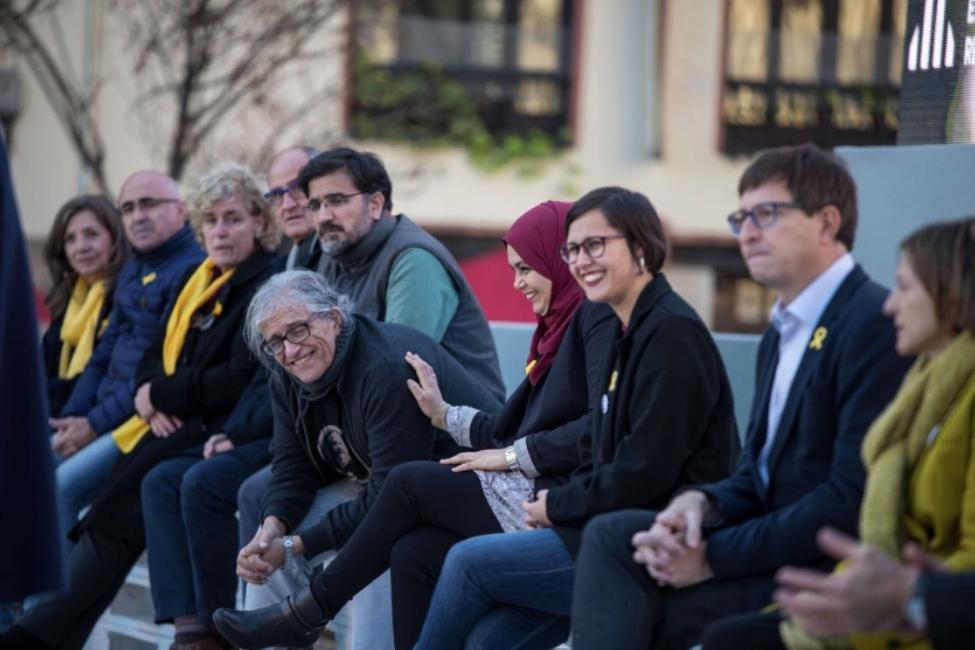 Cotarelo, gaudint en un acte de campanya d'ERC, el 2017