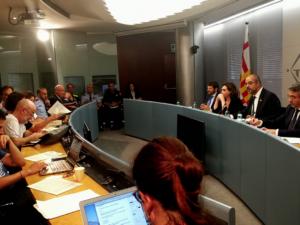 Roda de premsa conjunta del conseller Buch i l'alcaldessa Colau