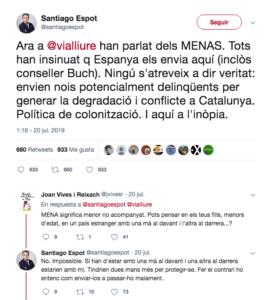 El tuit de Santiago Espot