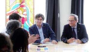 Tuesta, en Bélgica con Puigdemont