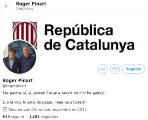 Pinart, puigdemontista de pedra picada